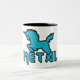 Los unicornios son metal taza de café de dos colores