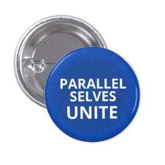 Los uno mismo paralelos unen el botón pin redondo de 1 pulgada