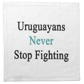Los Uruguayans nunca paran el luchar Servilleta
