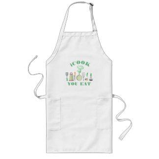 Los utensilios-iCook de la cocina usted come el Delantal Largo