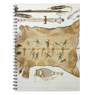 Los utensilios y los brazos indios, platean 21 del cuaderno