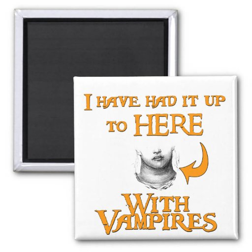 ¡Los vampiros chupan! Imán Cuadrado