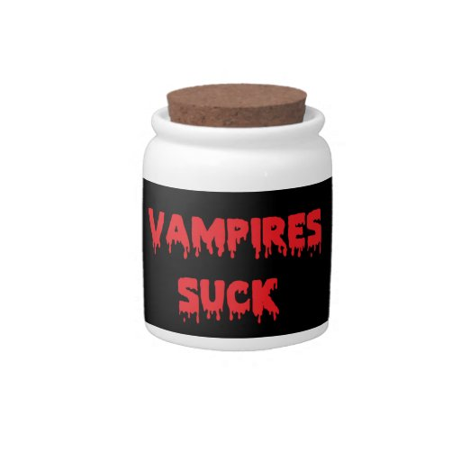 Los vampiros chupan jarras para caramelos