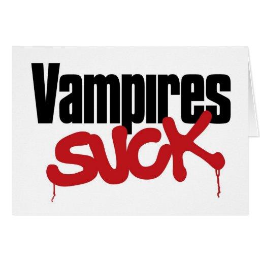 Los vampiros chupan - la tarjeta de cumpleaños