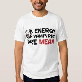 Los vampiros de la energía son malos playera