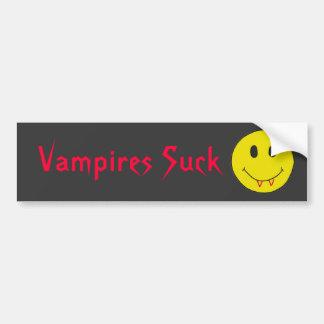 Los vampiros divertidos CV chupan a la pegatina pa Pegatina Para Auto