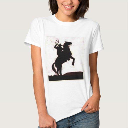 Los vaqueros lo hacen a caballo playeras
