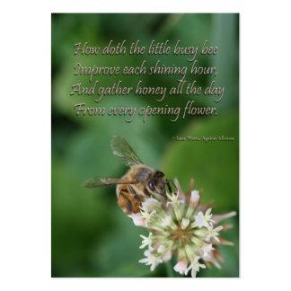 los vatios de Issac de la abeja citan - la perseve Tarjeta De Negocio