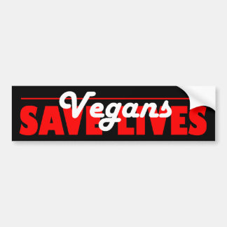Los veganos ahorran a la pegatina para el parachoq etiqueta de parachoque