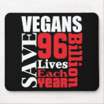 Los veganos ahorran al vegano Mousepad de las vida Alfombrilla De Ratones
