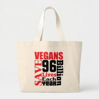 Los veganos ahorran la bolsa de asas del vegano de