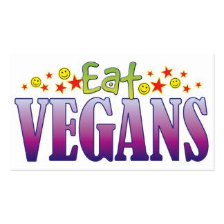 Los veganos comen tarjetas de visita