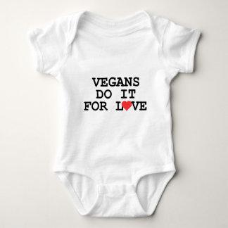 Los veganos lo hacen para el bebé del vegano del camisetas