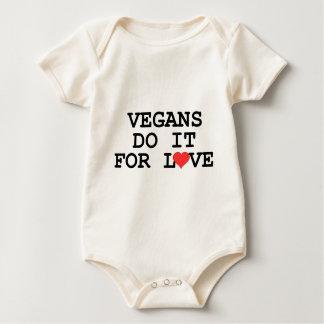 Los veganos lo hacen para el bebé del vegano del trajes de bebé