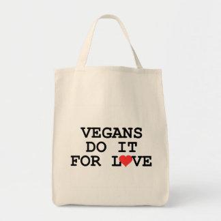 Los veganos lo hacen para la bolsa de asas del ult