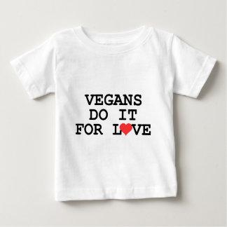 Los veganos lo hacen para la camiseta del bebé del