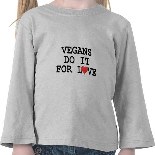 Los veganos lo hacen para la camiseta del niño del