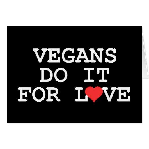 Los veganos lo hacen para la tarjeta del amor