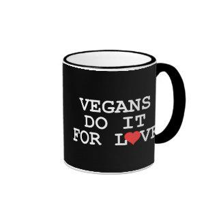 Los veganos lo hacen para la taza del amor