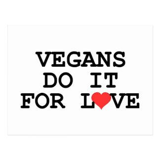 Los veganos lo hacen para las postales del vegano