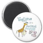 Los veganos son animal amistoso iman de frigorífico