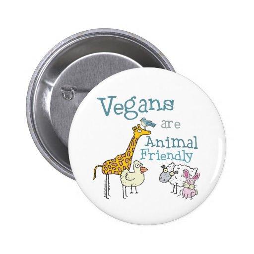 Los veganos son animal amistoso pins