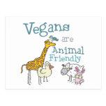 Los veganos son animal amistoso postal