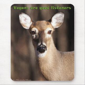 Los veganos son buenos regalos y ropa de los oyent tapetes de raton