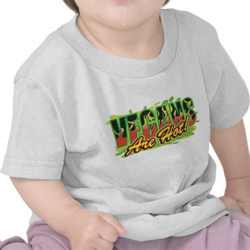 Los veganos son calientes camisetas