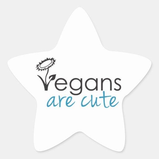 Los veganos son lindos - los abogados crean para pegatina en forma de estrella
