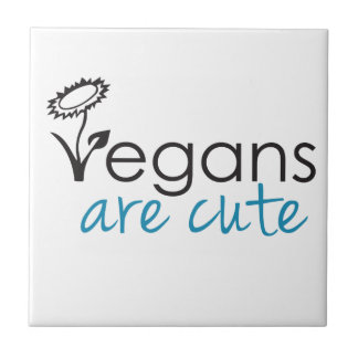 Los veganos son lindos - los abogados crean para r azulejo cuadrado pequeño