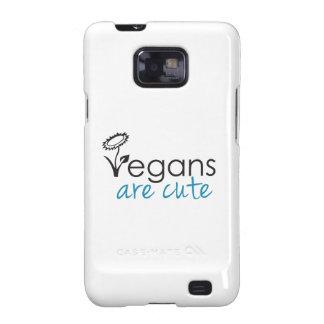 Los veganos son lindos - los abogados crean para r samsung galaxy SII carcasas