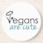Los veganos son lindos - los abogados crean para r posavasos manualidades