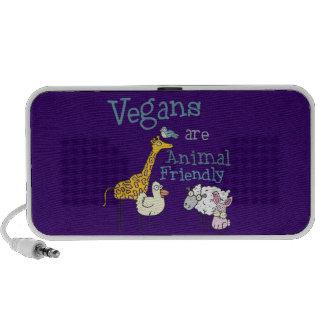 Los veganos son locutores amistosos animales de la iPod altavoces