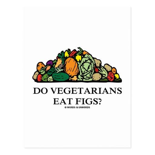 ¿Los vegetarianos comen higos? (Pila de verduras) Tarjeta Postal