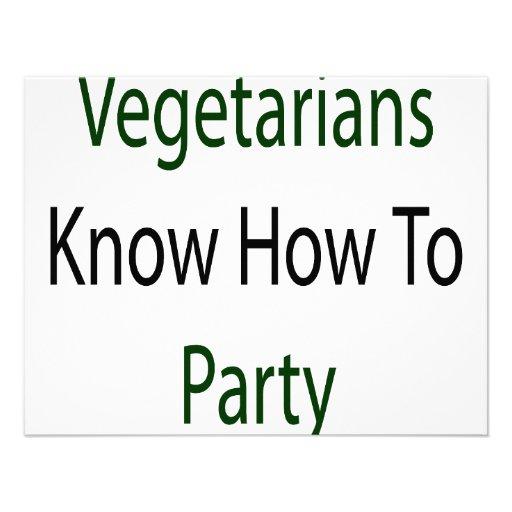 Los vegetarianos saben ir de fiesta comunicados personalizados