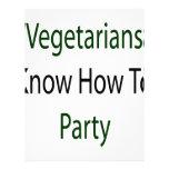 Los vegetarianos saben ir de fiesta membrete personalizado