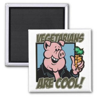 Los vegetarianos son frescos iman de frigorífico