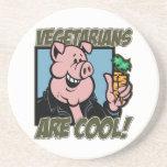 Los vegetarianos son frescos posavasos personalizados