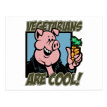 Los vegetarianos son frescos tarjeta postal