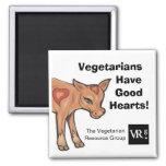 ¡Los vegetarianos tienen buenos corazones! Imán