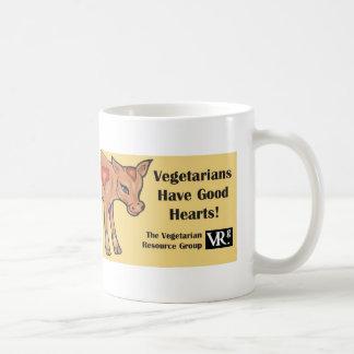 ¡Los vegetarianos tienen buenos corazones! Taza