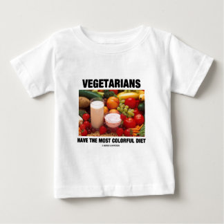 Los vegetarianos tienen la dieta más colorida playera de bebé