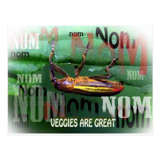 los veggies son grandes tarjeta postal