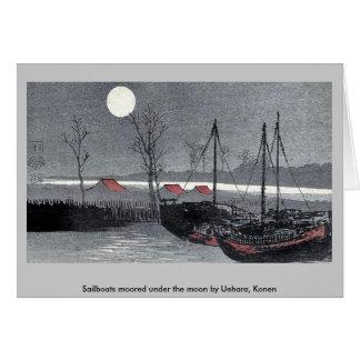 Los veleros amarraron debajo de la luna por Uehara Tarjetas