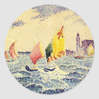 Los veleros de la Cruz de Enrique-Edmundo acercan Pegatina Redonda