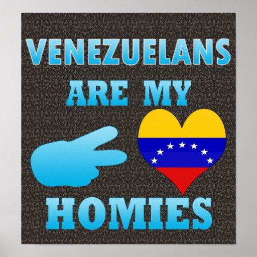 Los venezolanos son mi Homies Póster