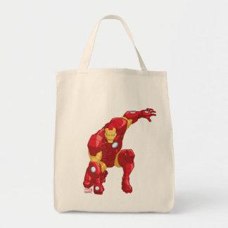 Los vengadores montan arte del carácter del hombre bolsa tela para la compra