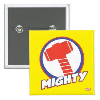 Los vengadores montan el logotipo poderoso del pin cuadrado