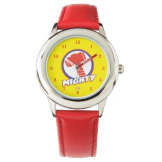 Los vengadores montan el logotipo poderoso del reloj de mano